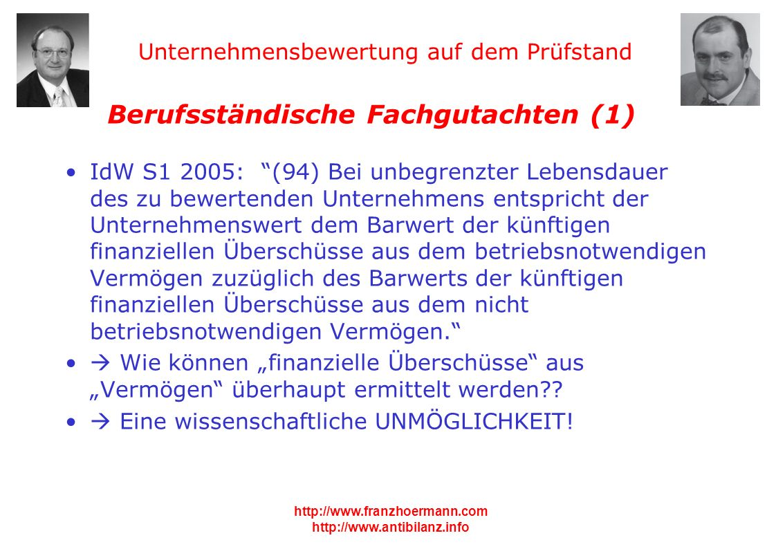 Berufsständische Fachgutachten (1)