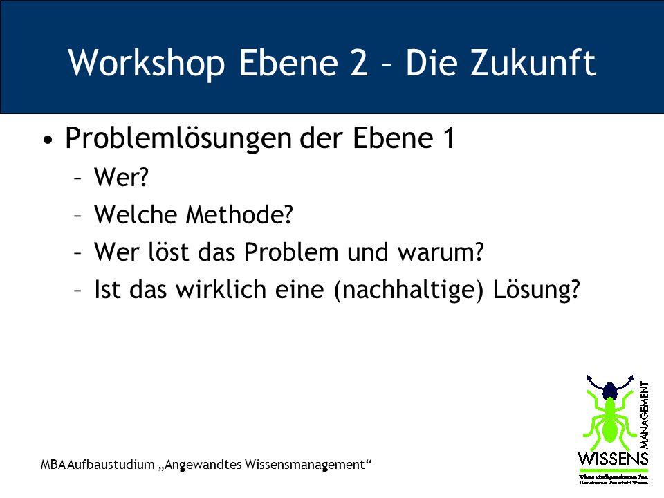 Workshop Ebene 2 – Die Zukunft