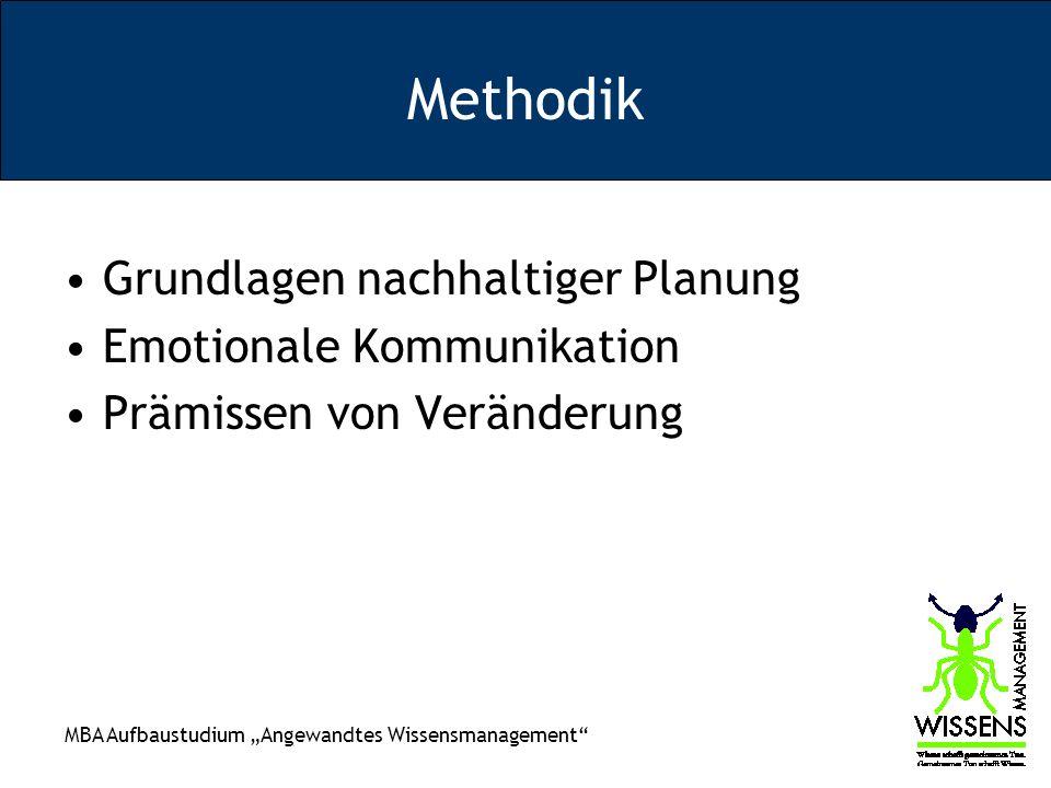 Methodik Grundlagen nachhaltiger Planung Emotionale Kommunikation