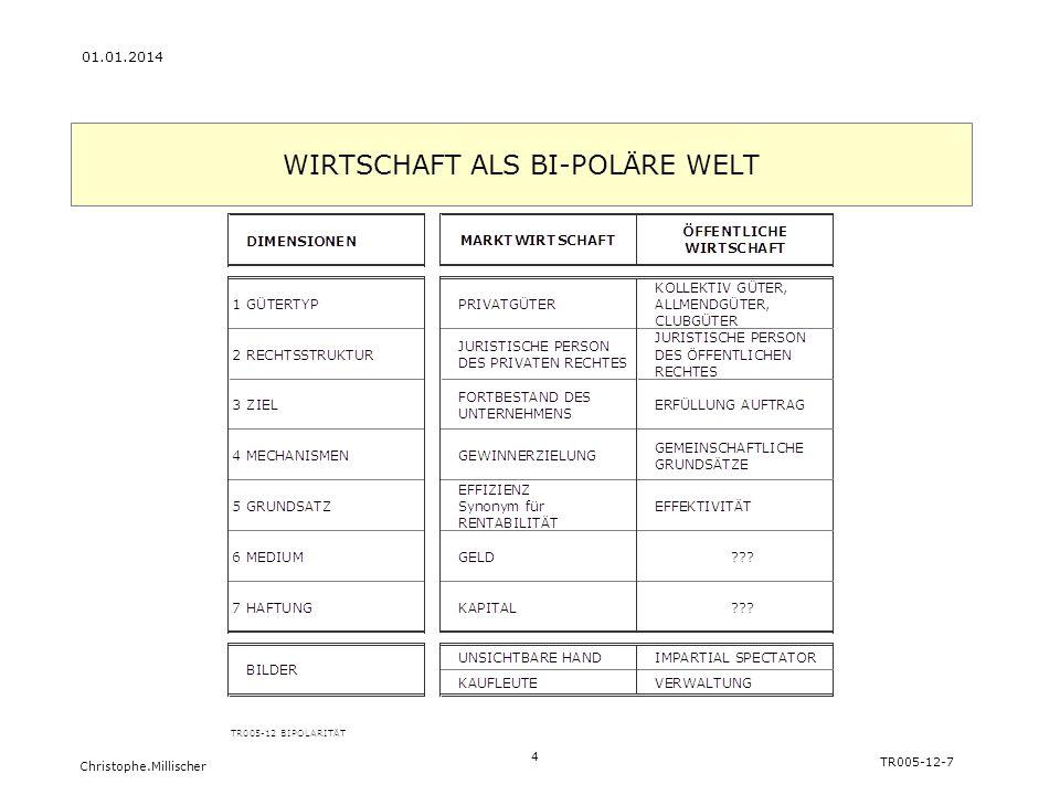 WIRTSCHAFT ALS BI-POLÄRE WELT