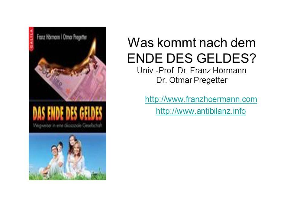 http://www.franzhoermann.com http://www.antibilanz.info Dr.