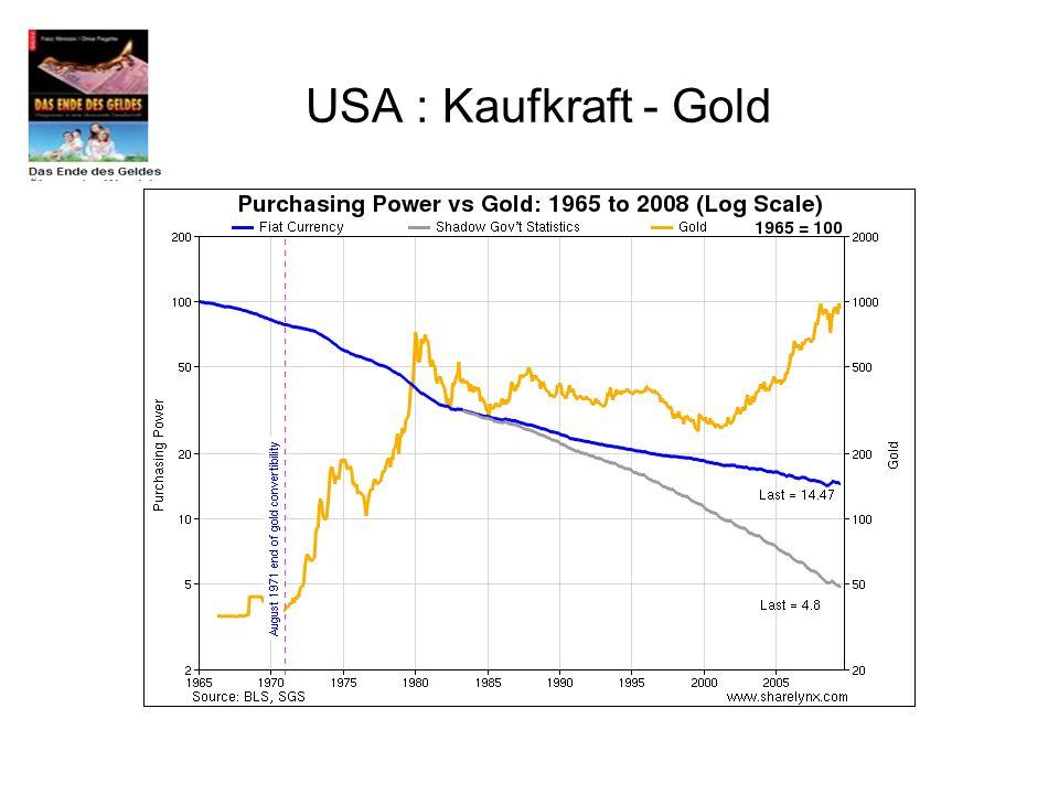 USA : Kaufkraft - Gold
