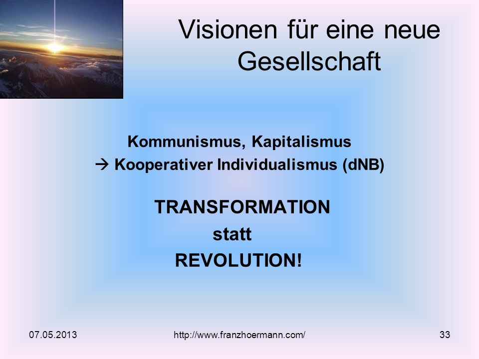 Visionen für eine neue Gesellschaft