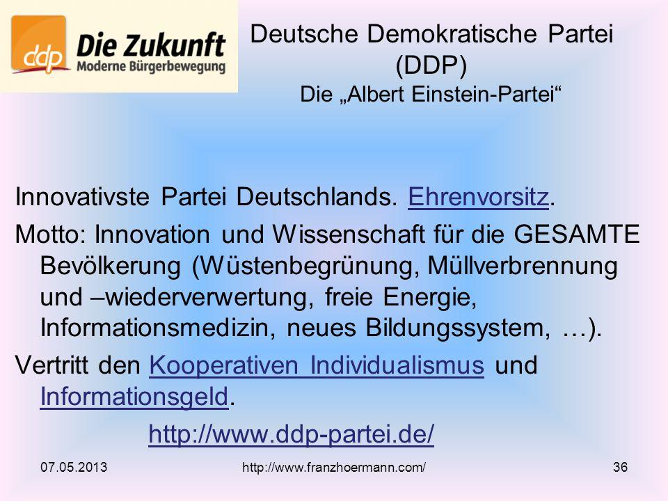 """Deutsche Demokratische Partei (DDP) Die """"Albert Einstein-Partei"""