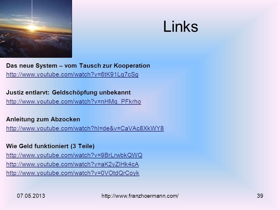 Links Das neue System – vom Tausch zur Kooperation