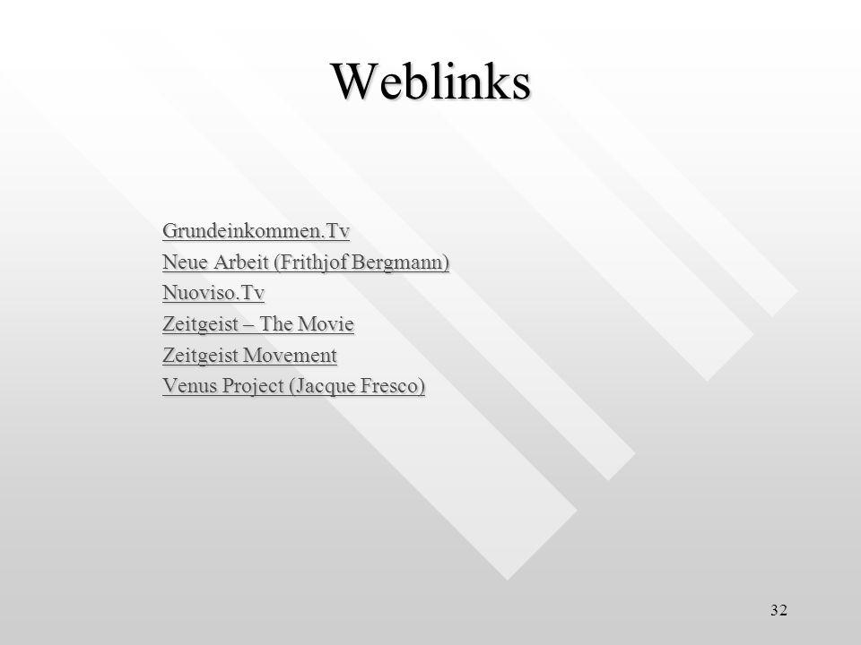 Weblinks Grundeinkommen.Tv Neue Arbeit (Frithjof Bergmann) Nuoviso.Tv