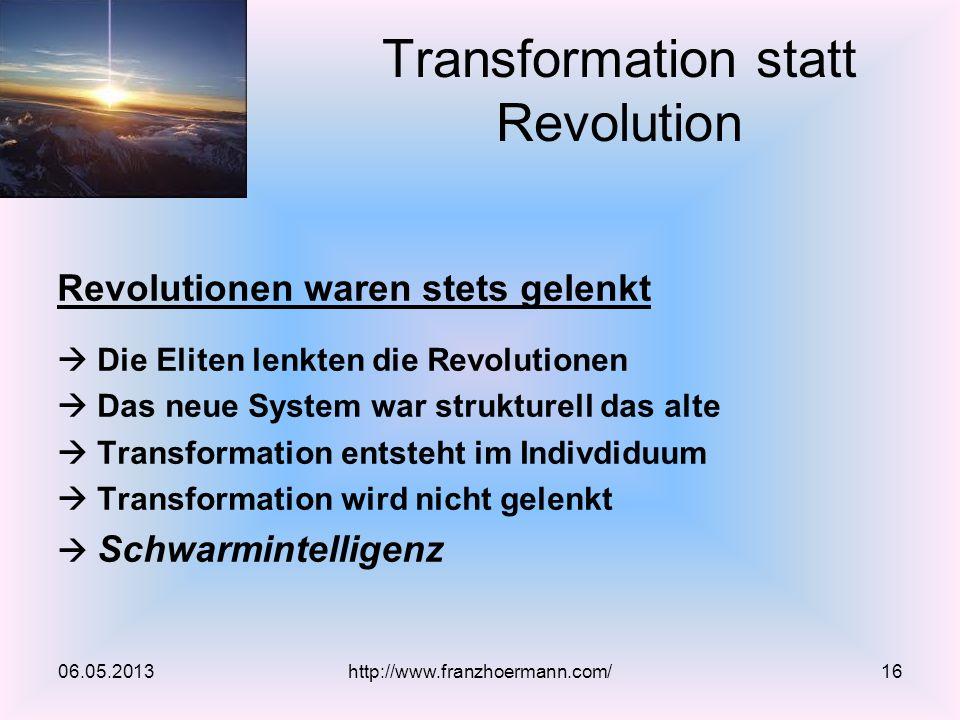 Transformation statt Revolution
