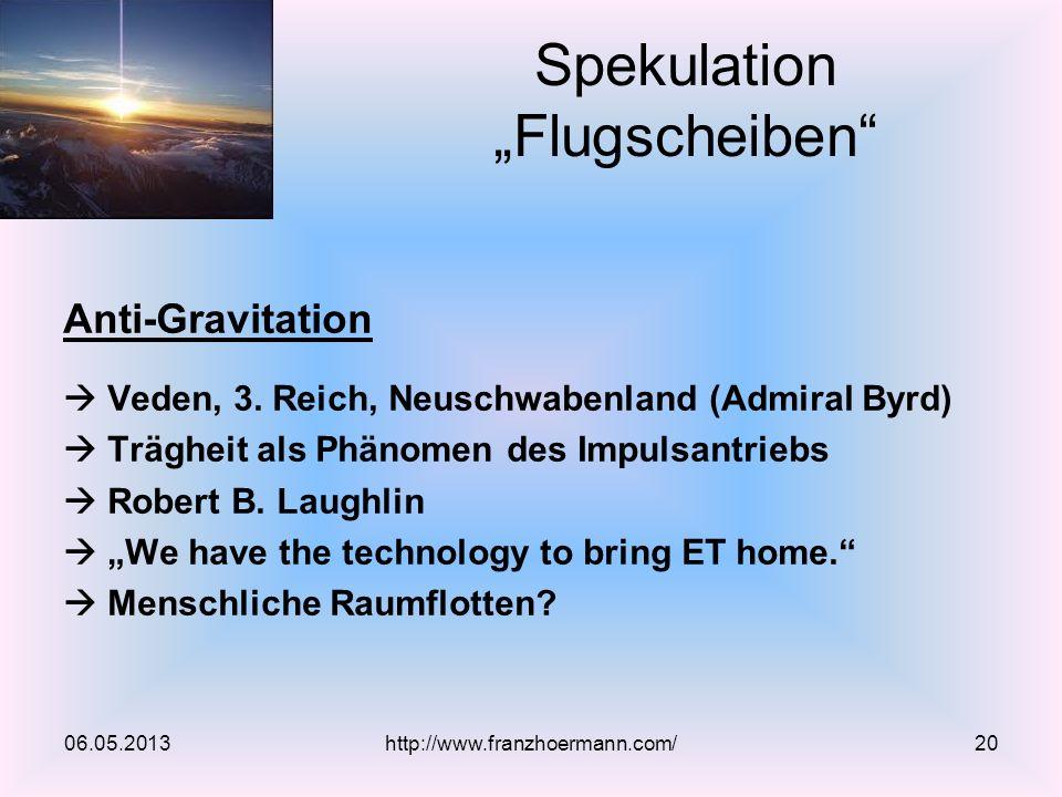"""Spekulation """"Flugscheiben"""
