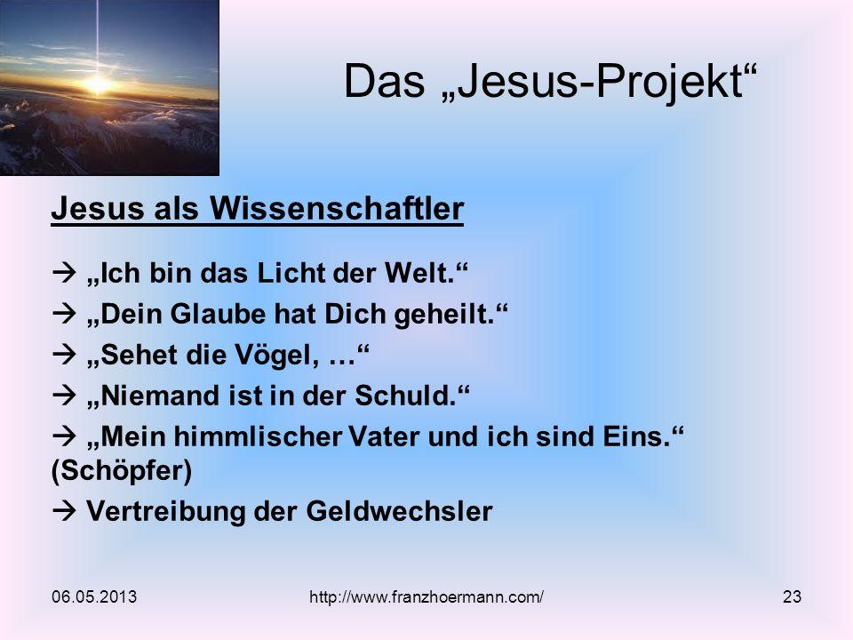 """Das """"Jesus-Projekt Jesus als Wissenschaftler"""