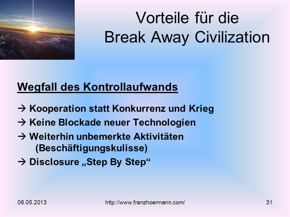 Vorteile für die Break Away Civilization