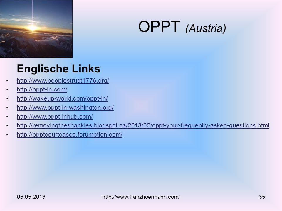 OPPT (Austria) Englische Links http://www.peoplestrust1776.org/