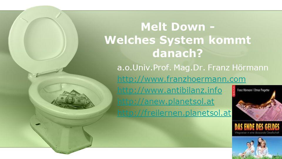 Melt Down - Welches System kommt danach