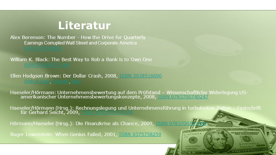Literatur Alex Berenson: The Number - How the Drive for Quarterly