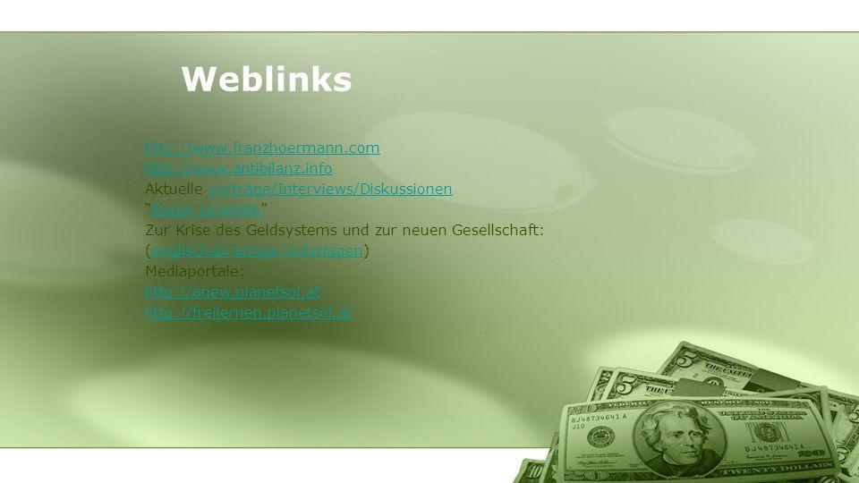Weblinks http://www.franzhoermann.com http://www.antibilanz.info