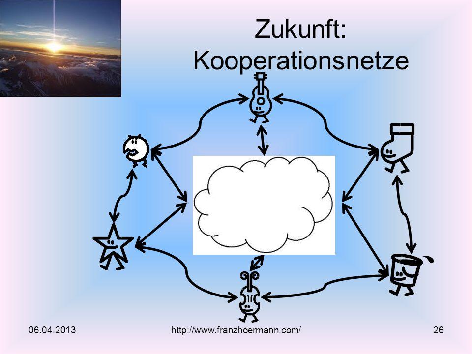 Zukunft: Kooperationsnetze