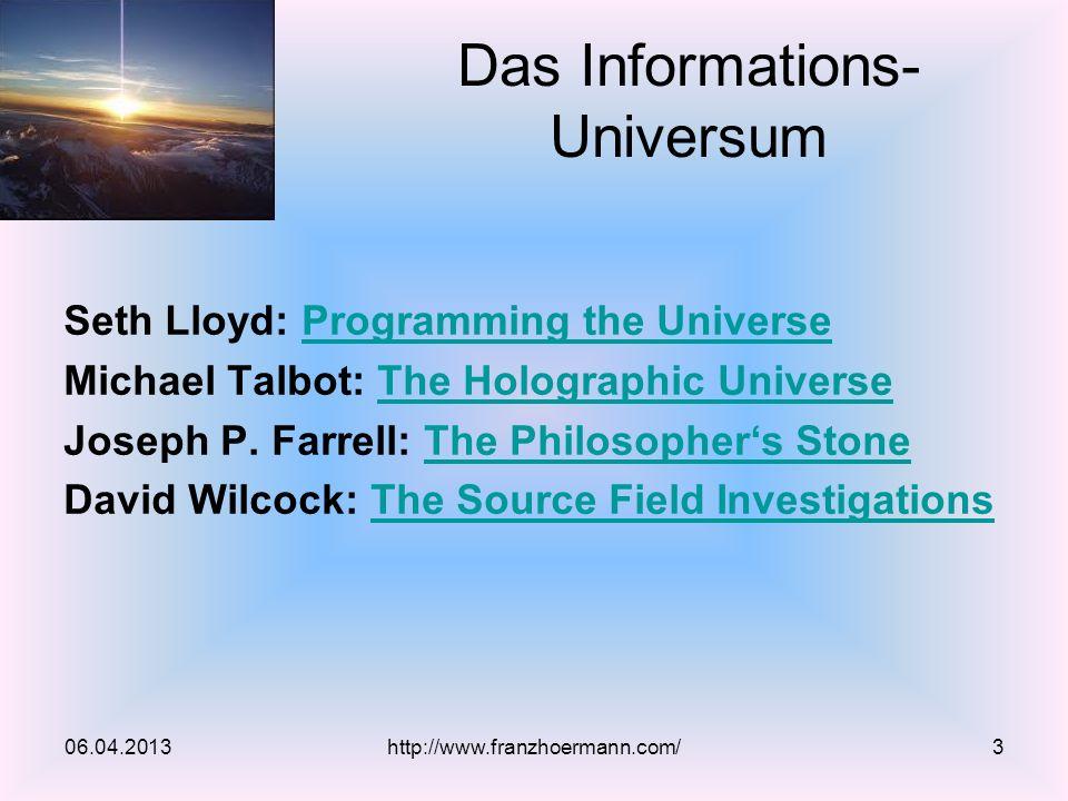 Das Informations- Universum