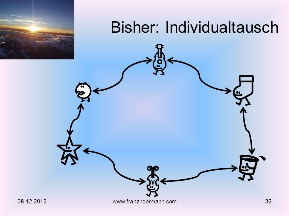 Bisher: Individualtausch