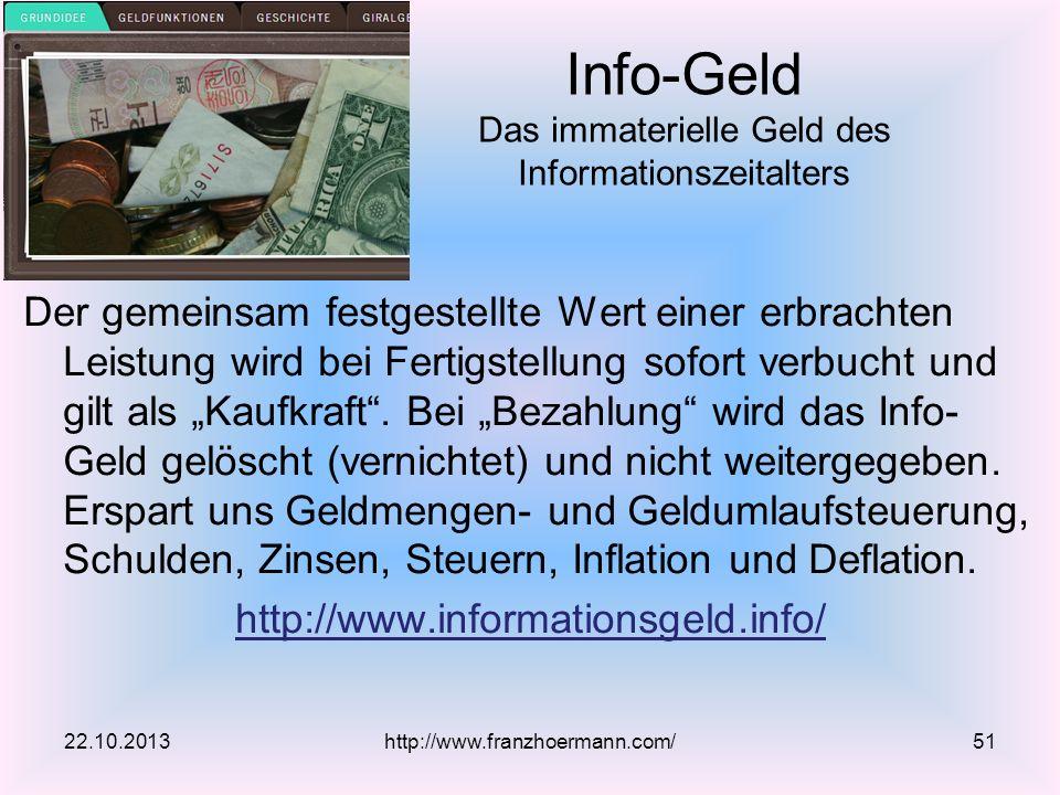 Info-Geld Das immaterielle Geld des Informationszeitalters