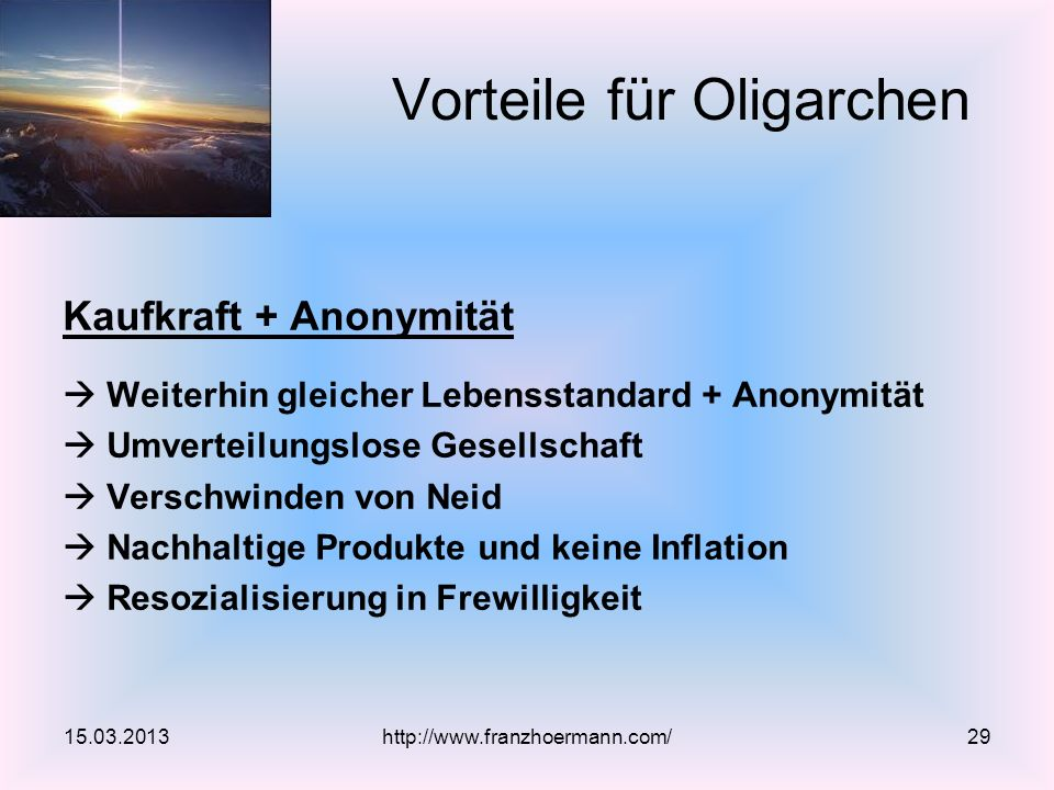 Vorteile für Oligarchen