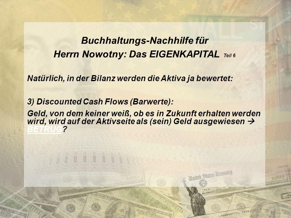 Buchhaltungs-Nachhilfe für Herrn Nowotny: Das EIGENKAPITAL Teil 6