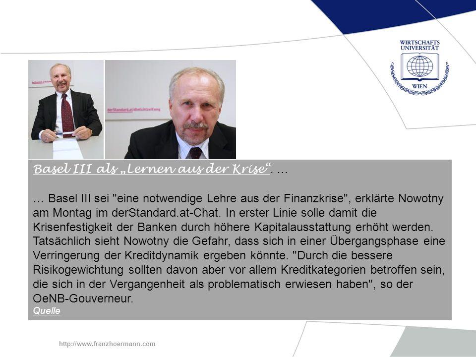 """Basel III als """"Lernen aus der Krise . …"""