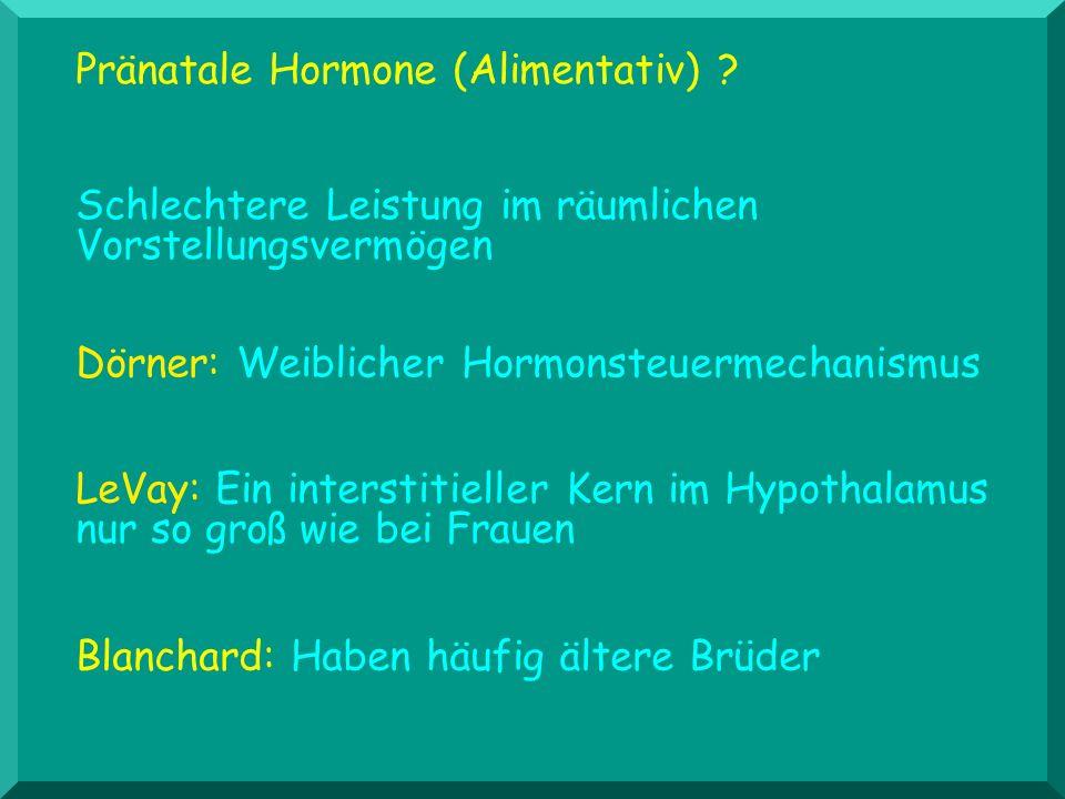 Pränatale Hormone (Alimentativ)