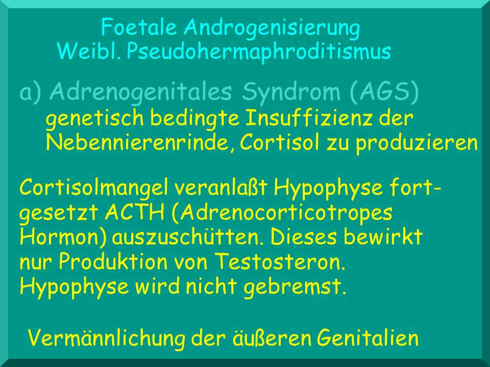 a) Adrenogenitales Syndrom (AGS)