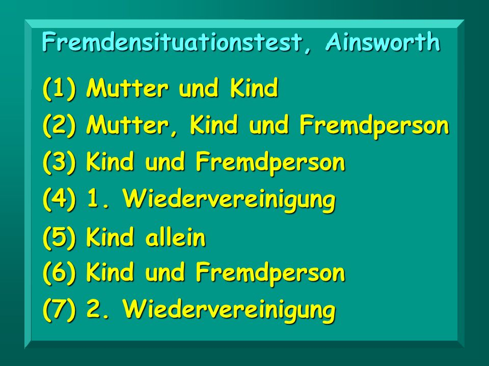 Fremdensituationstest, Ainsworth