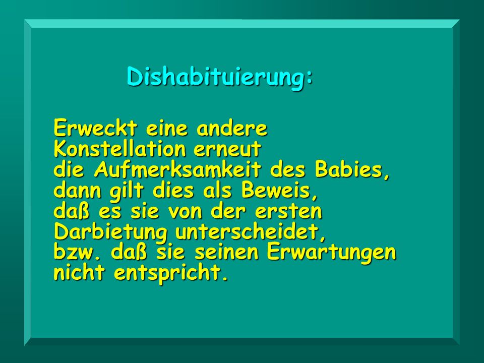 Dishabituierung:
