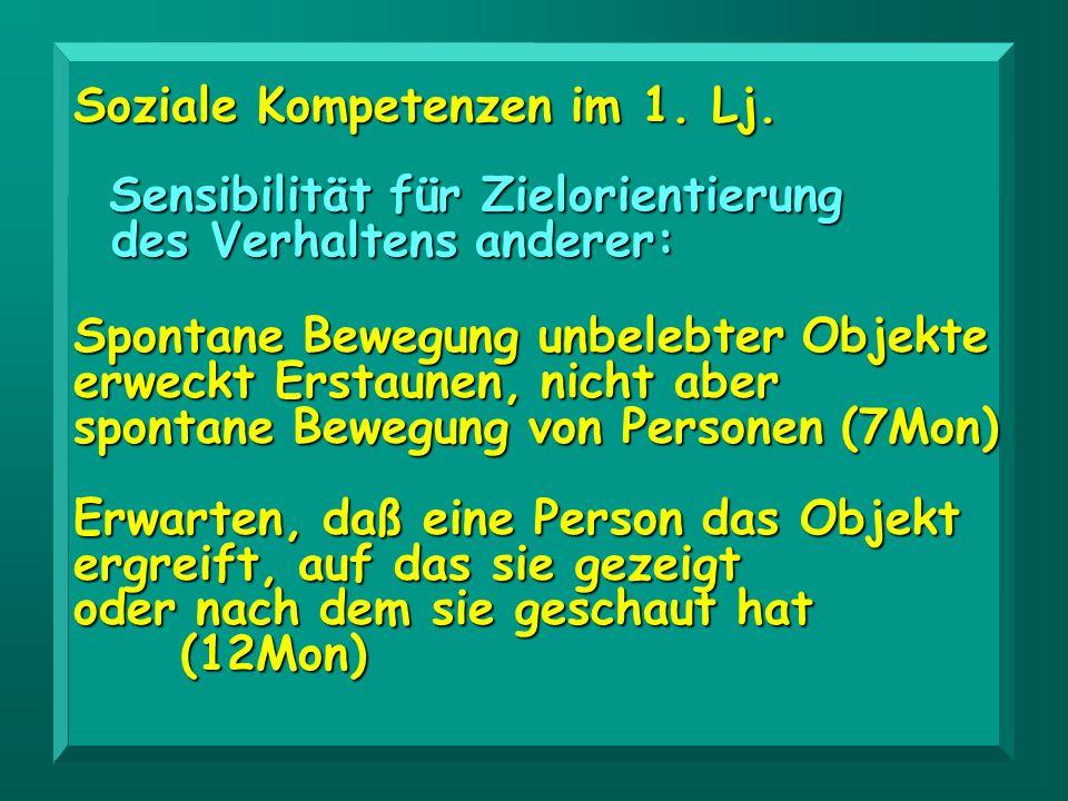 Soziale Kompetenzen im 1. Lj.