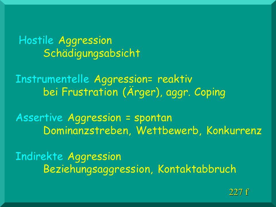 Hostile Aggression Schädigungsabsicht