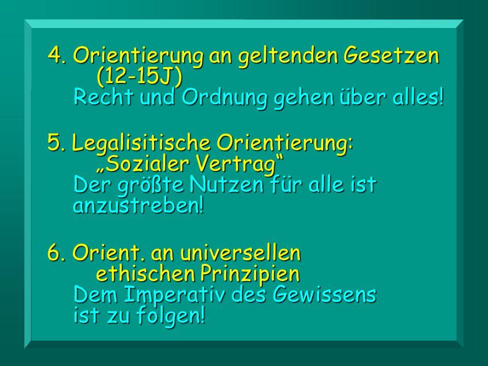 4. Orientierung an geltenden Gesetzen