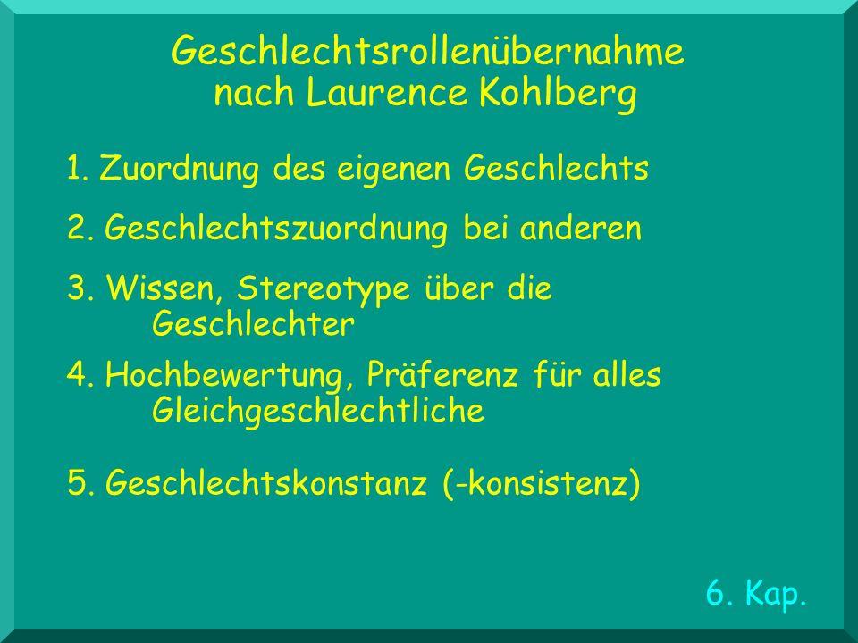 Geschlechtsrollenübernahme nach Laurence Kohlberg