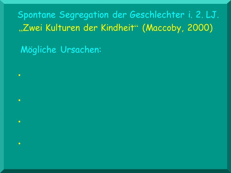 Spontane Segregation der Geschlechter i. 2. LJ.