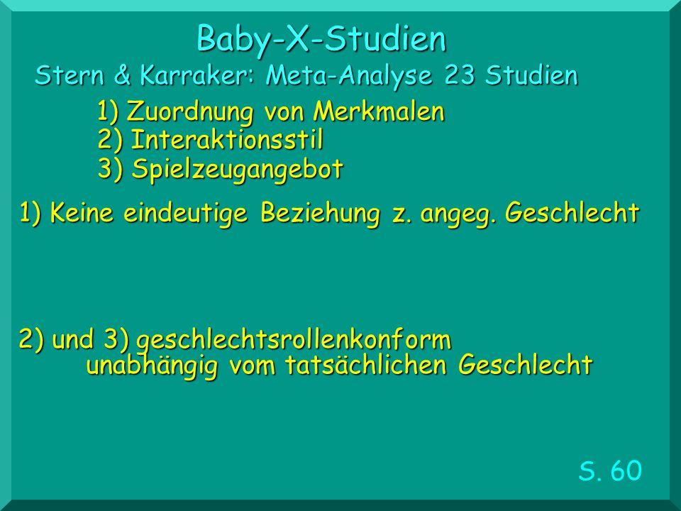 Baby-X-Studien Stern & Karraker: Meta-Analyse 23 Studien