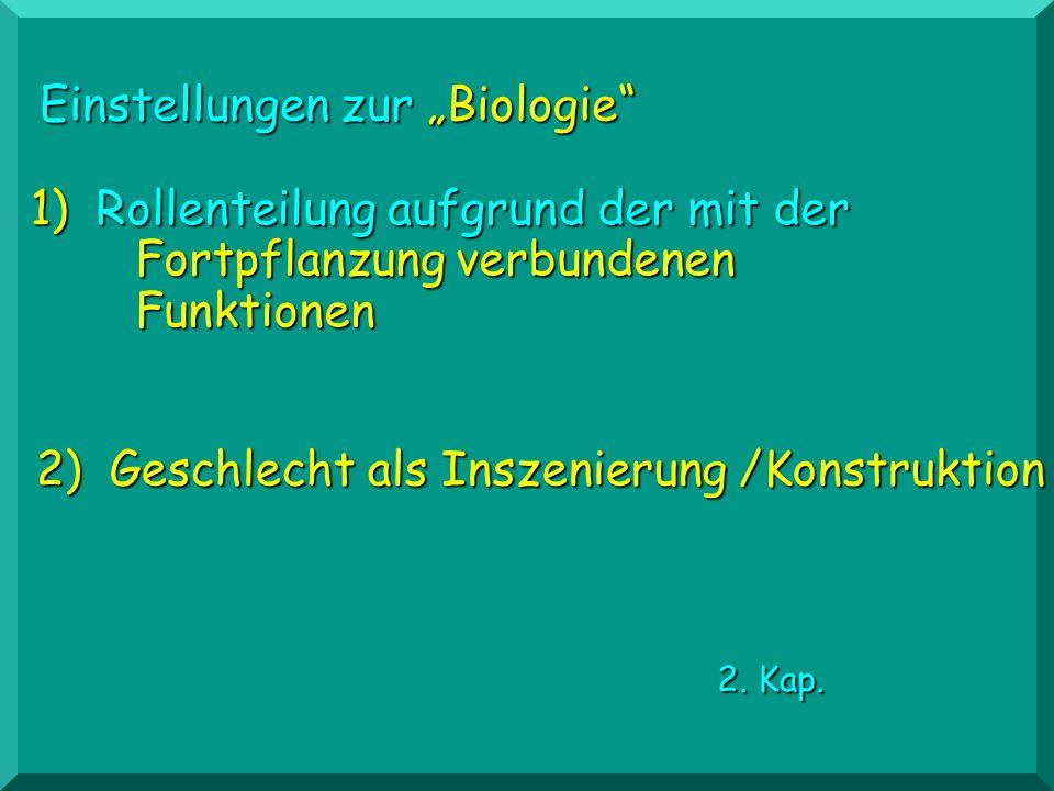 """Einstellungen zur """"Biologie"""