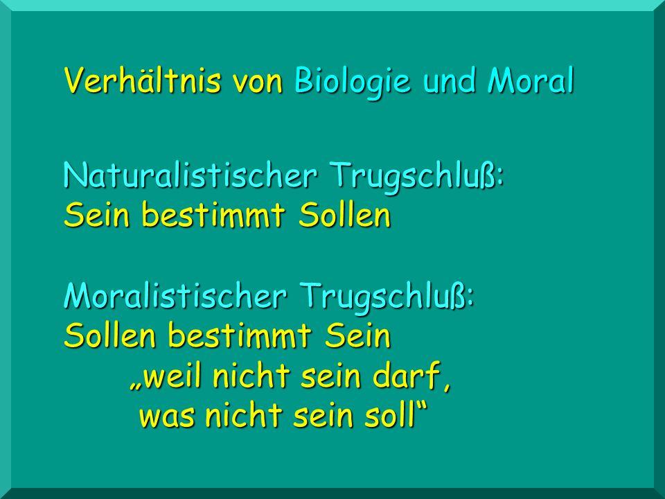Verhältnis von Biologie und Moral