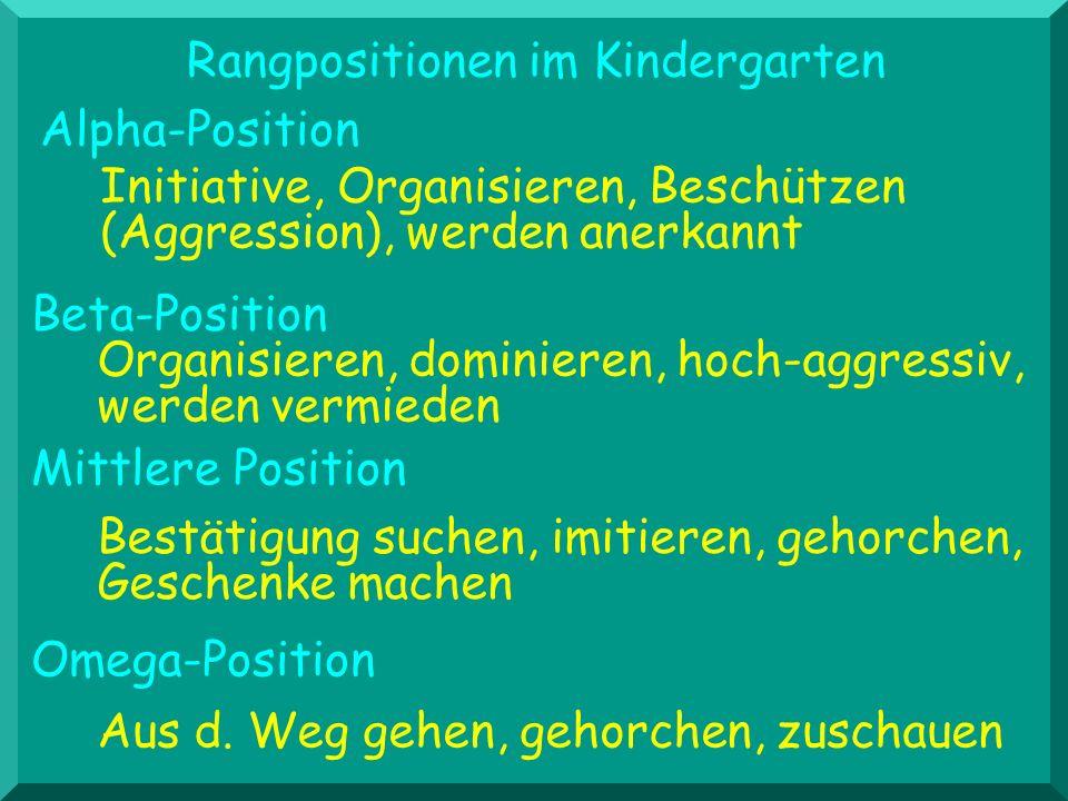 Rangpositionen im Kindergarten