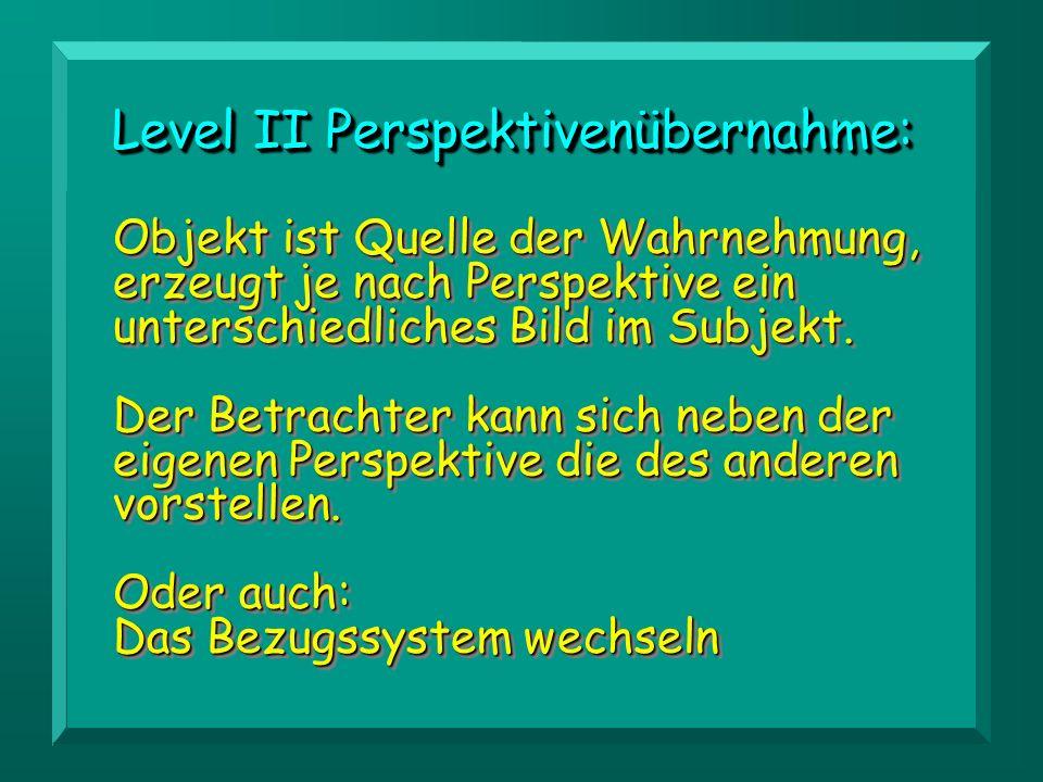 Level II Perspektivenübernahme: