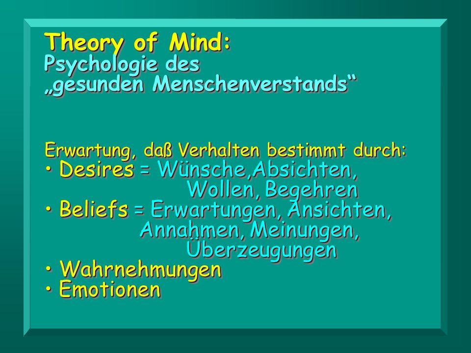 """Theory of Mind: Psychologie des """"gesunden Menschenverstands"""