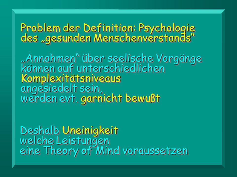 """Problem der Definition: Psychologie des """"gesunden Menschenverstands"""
