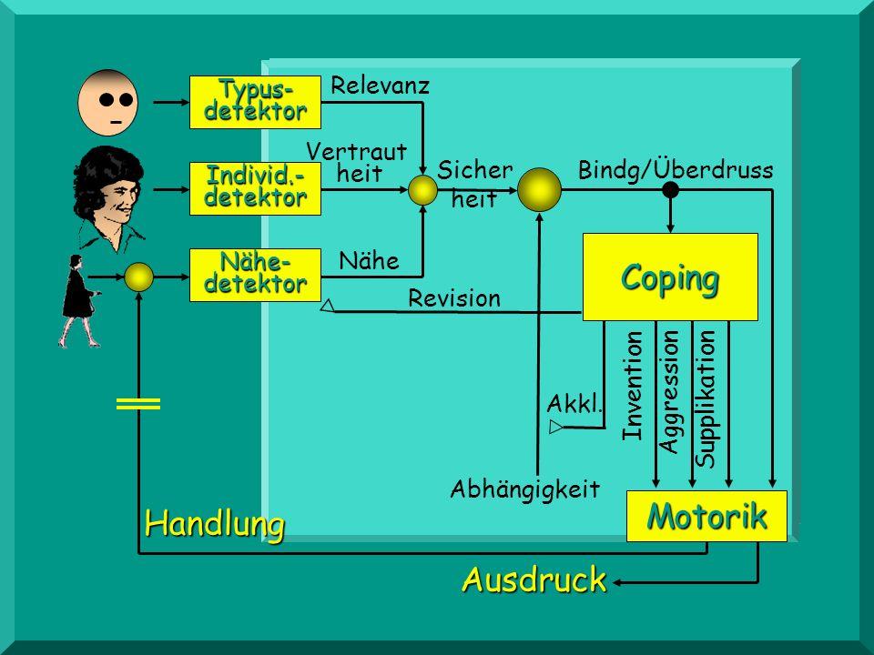KIND Coping Motorik Handlung Ausdruck Relevanz Typus- detektor