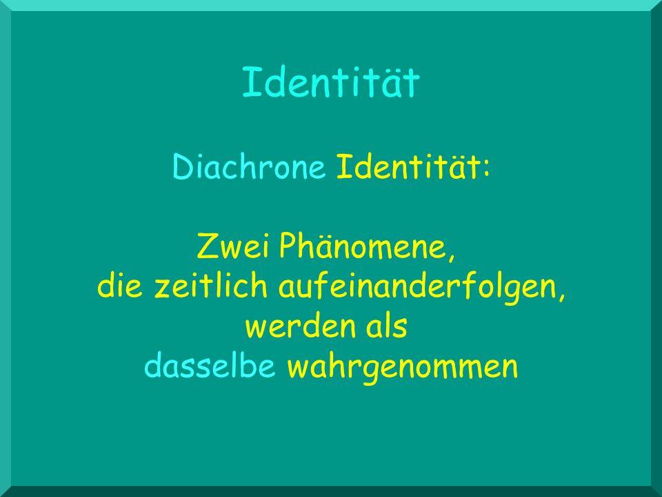 Identität Diachrone Identität: