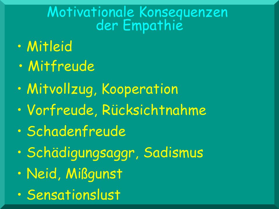 Motivationale Konsequenzen der Empathie