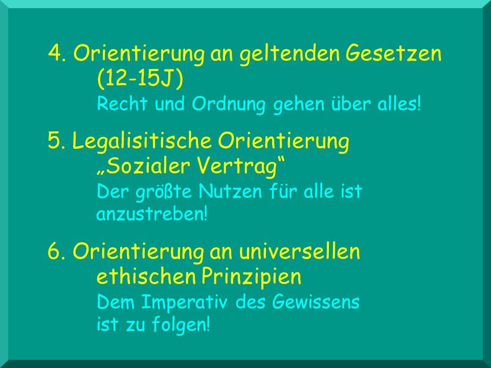 4. Orientierung an geltenden Gesetzen. (12-15J)