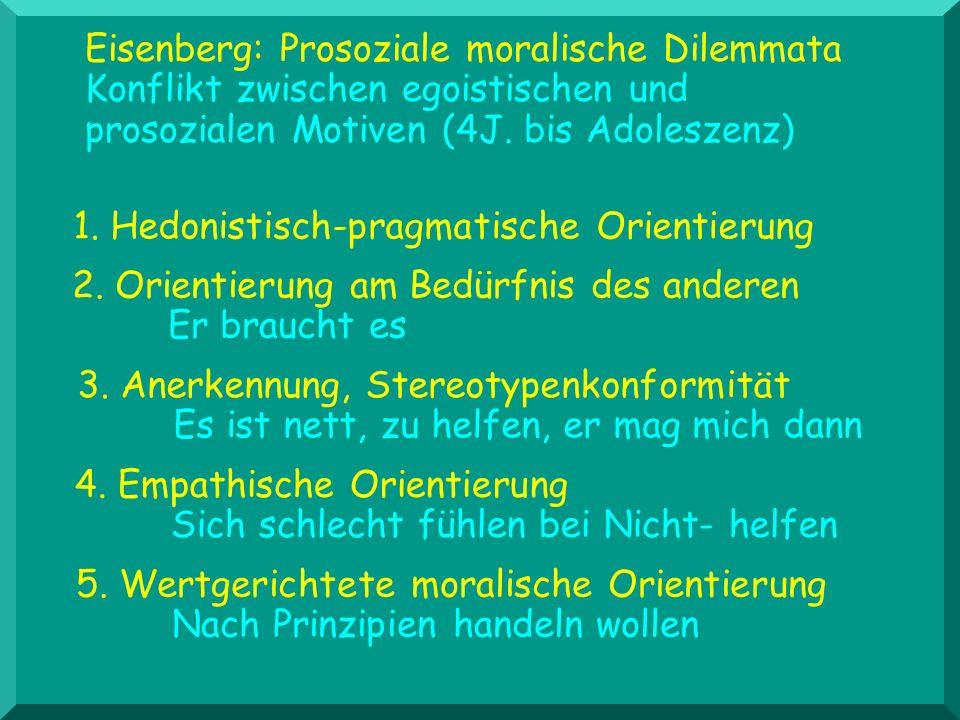Eisenberg: Prosoziale moralische Dilemmata