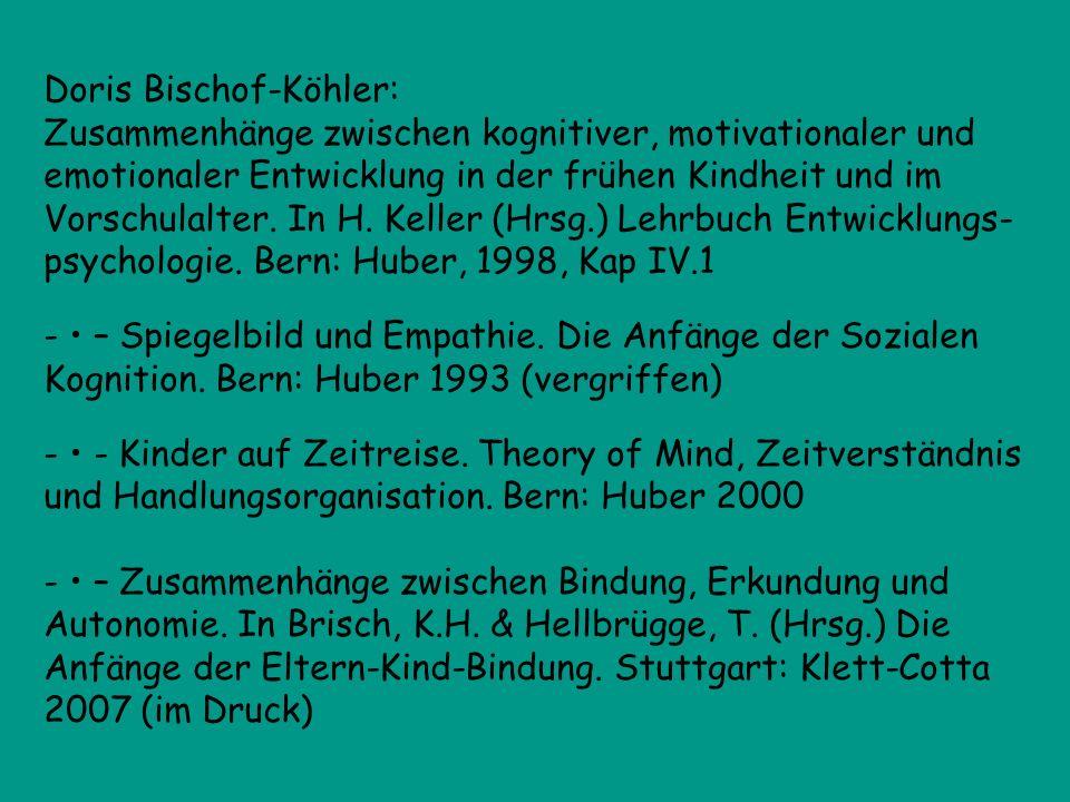 Doris Bischof-Köhler: