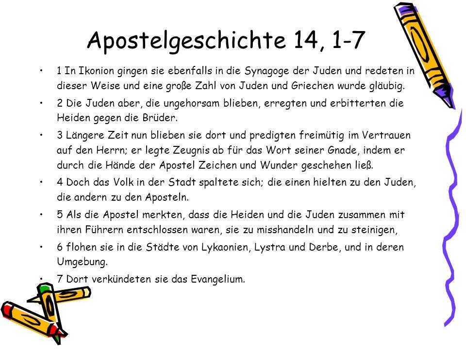 Apostelgeschichte 14, 1-7