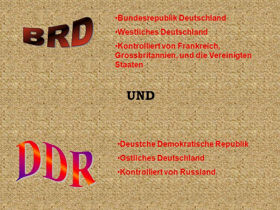BRD DDR UND Bundesrepublik Deutschland Westliches Deutschland