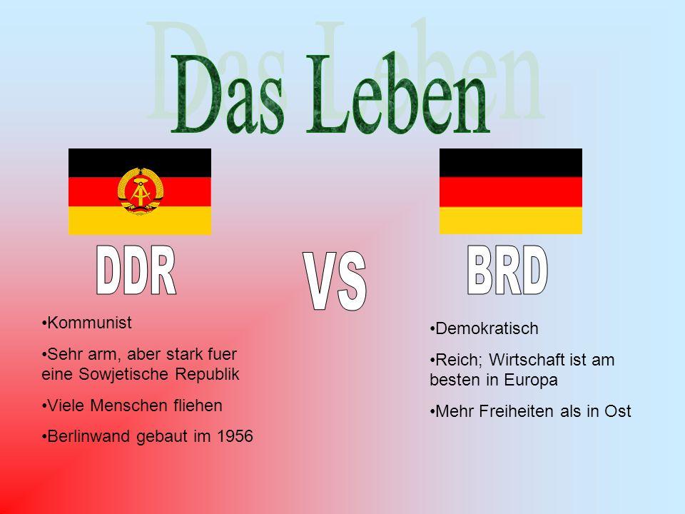 VS Das Leben DDR BRD Kommunist Demokratisch